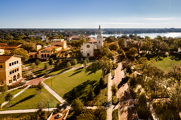 aerial photo of rollins college