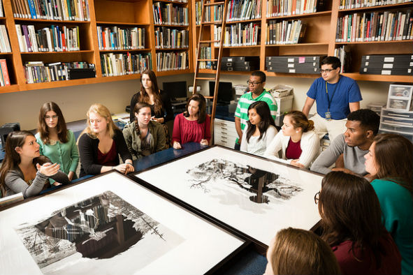 RCC students collaborate with Associate Professor of Art History Kim Dennis and CFAM's Curator to curate an exhibition of the internationally-renowned artist's work.