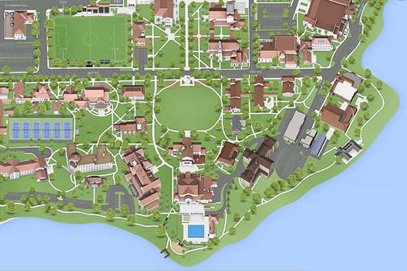 View Campus Maps For Rollins College