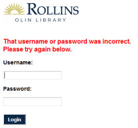 Database Access Troubleshooting | Find | Olin Library